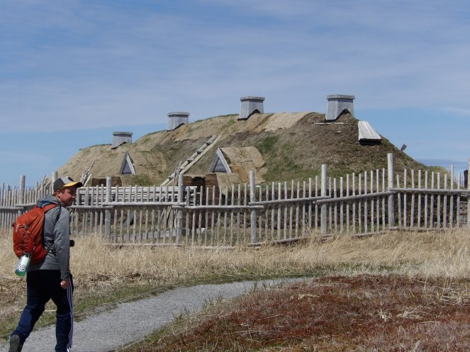 Reconstructed Norse long house
