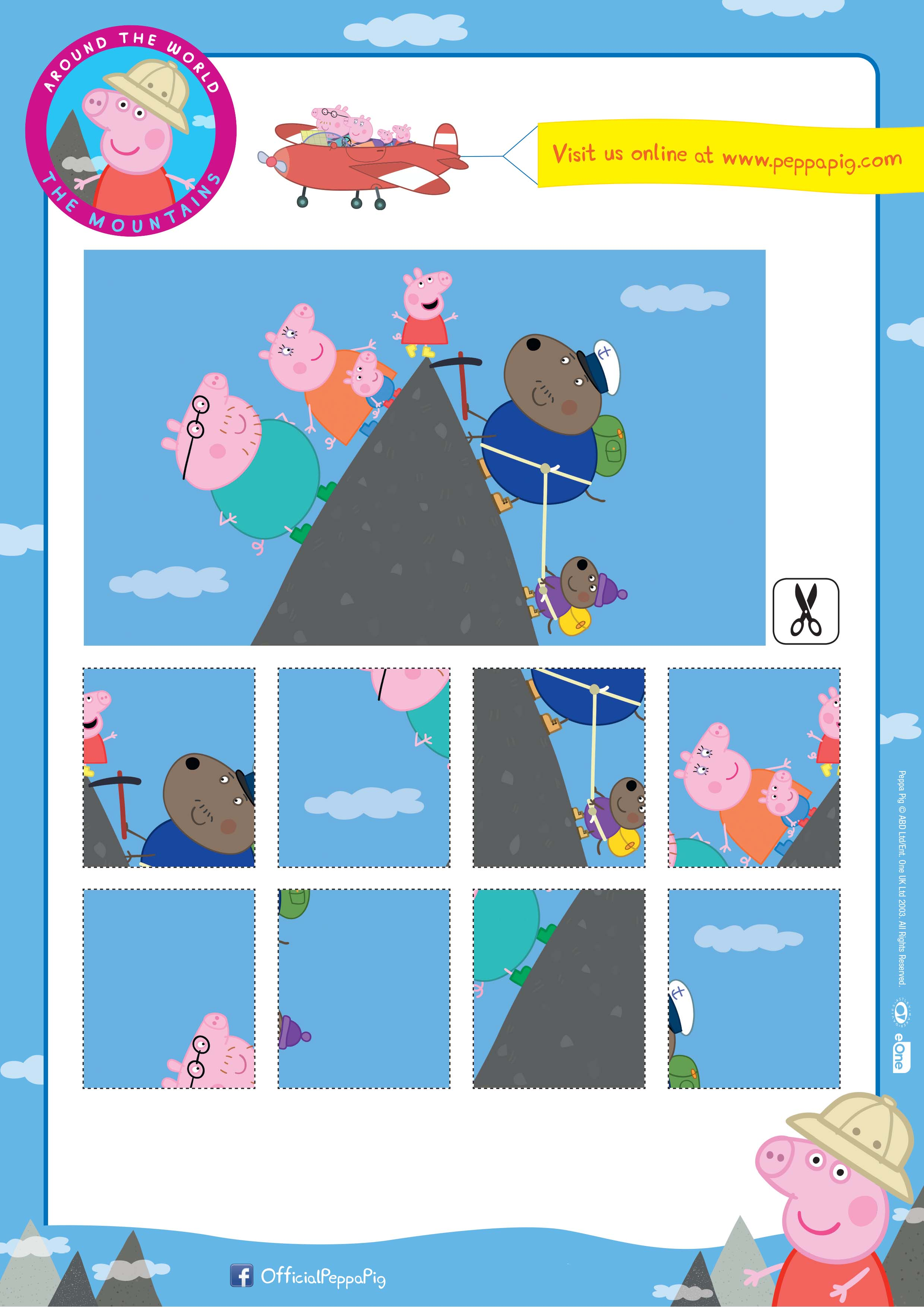 Peppa Pig Downloadable Activity Sheets