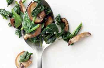 Mushroom and spinach breakfast recipe
