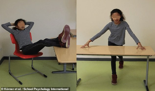 Researchers from Germany had 108 fourth-grade students complete psychological tests after either adopting power poses (as pictured) or less dominant and less assured bearings