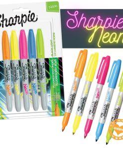 sharpie neon blister x 5 mumi diseño divertido