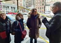 Rencontre avec Linn Washington, journaliste, sur le lieu de l'assassinat du policier Daniel Faulkner