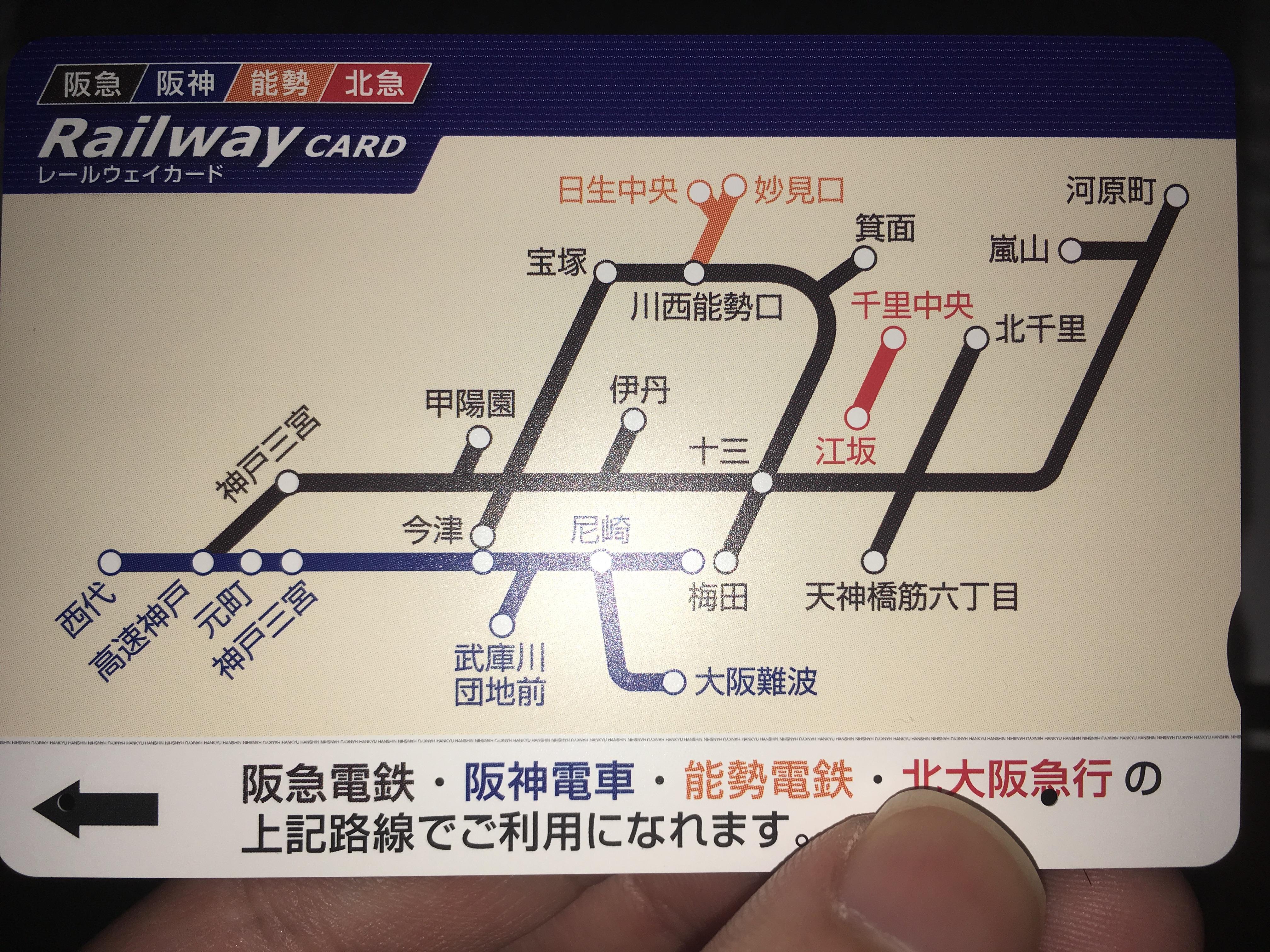 レールウェイカード阪神