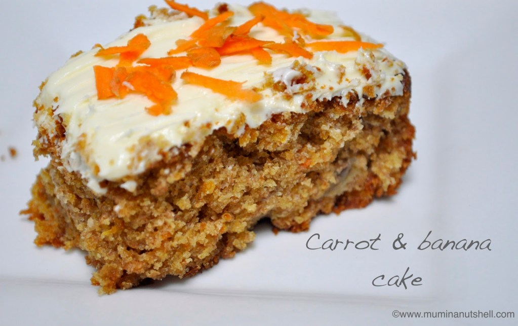 Yummy Carrot And Banana Cake Recipe