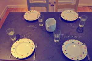 Slate Top Table makes meal times stress free and fun Mum in a Nutshell