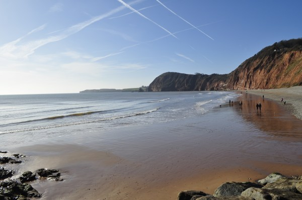 Sidmouth beach, Devon. Mum in a Nutshell