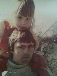 1970's photo of me and my Dad. Mum in a Nutshell
