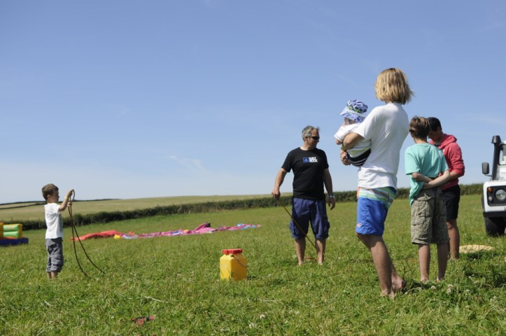 Family fun games organised by the Saltrock crew at Croyde View festival