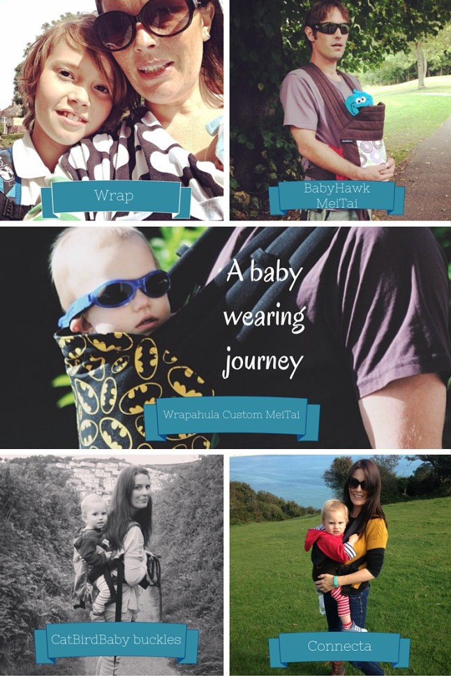 A baby wearing journey from new born to toddler,