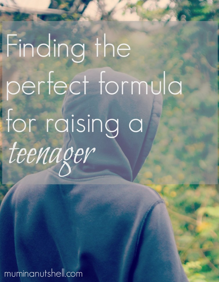 Finding the perfect formula for raising a teenager
