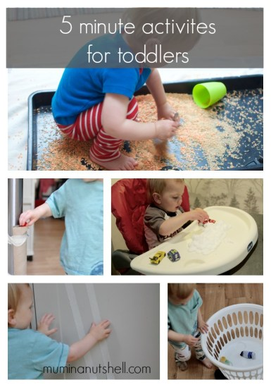 5 mini activities for toddlers, see more hear;