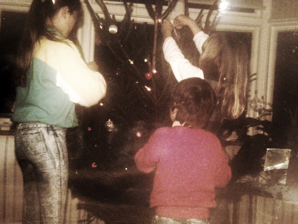 Christmas in the 1980's and having a special day to decorate the tree