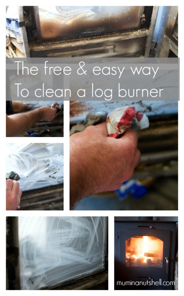 a free and easy way to clean a log burner