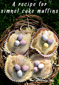 im making these simnel cake muffins as alternative Easter gifts this year. i like this recipe as its easy and light and not too fuitcake like