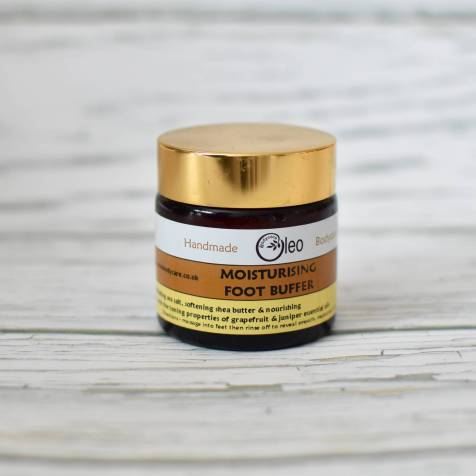 Foot buffer from the Oleo bodycare range of natural body care hand blended using pure essential oils. read more here;