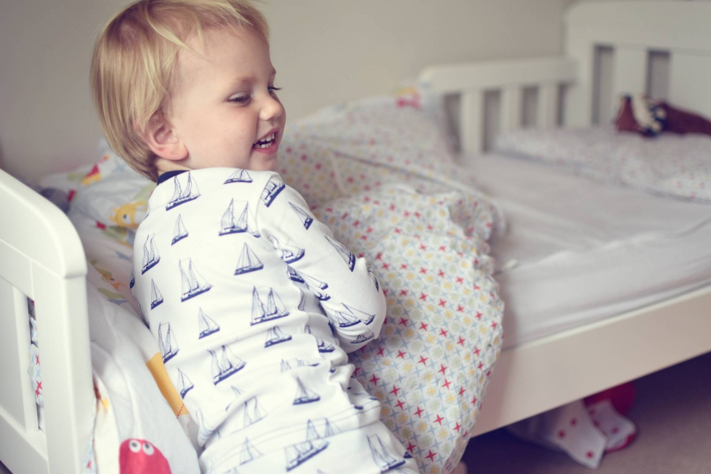 even the softest sweet peanut clothes don't help this lively toddler bed time routine. Although they do stop him waking at night due to wriggling wardrobe malfunctions