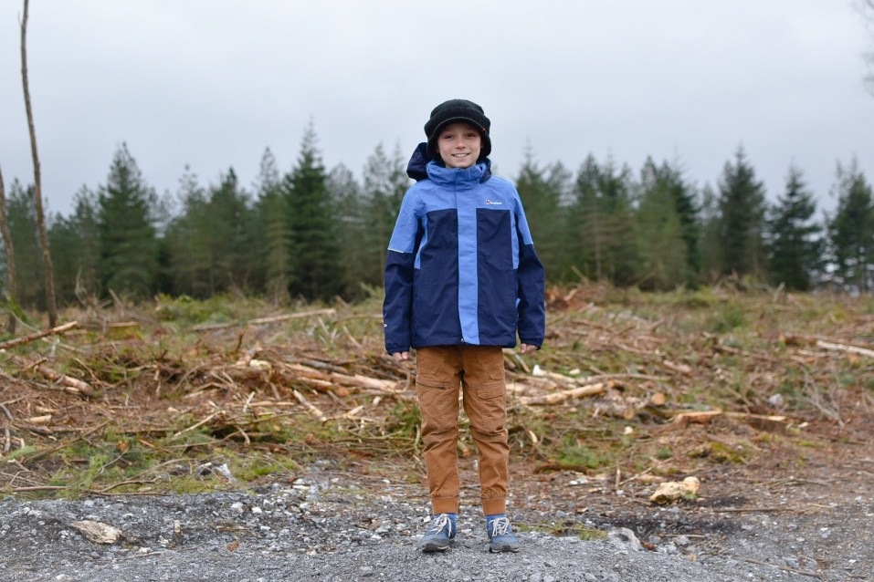 testing out the berghaus kids range of jackets