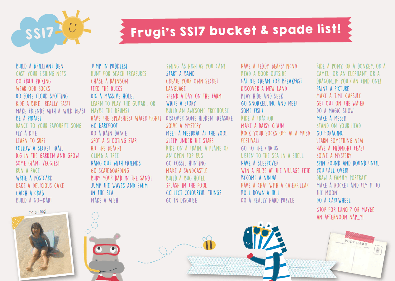what's on your bucket and spade list this summer?