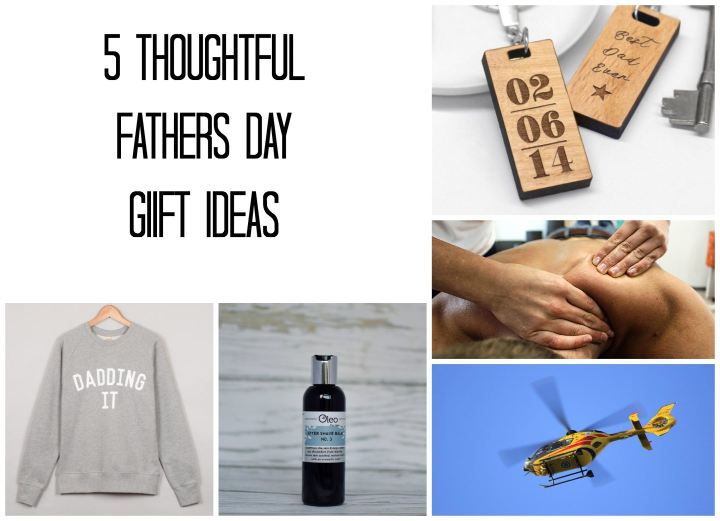 a gift guide of ideas for thoughtful fathers day presents