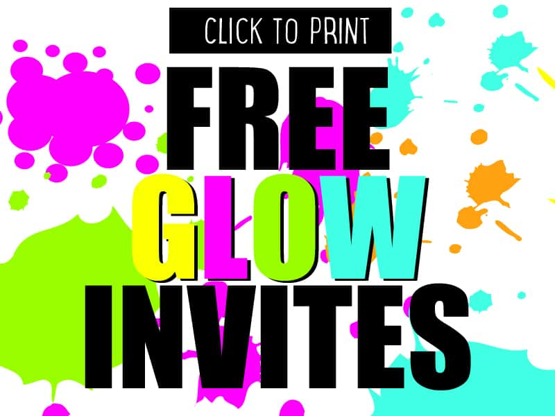 Cheap Neon Invitations