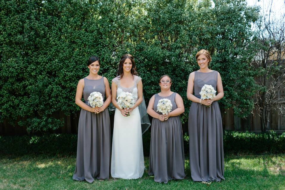 The four sisters ~ Liz, Alice (bride), Emily and Lucy