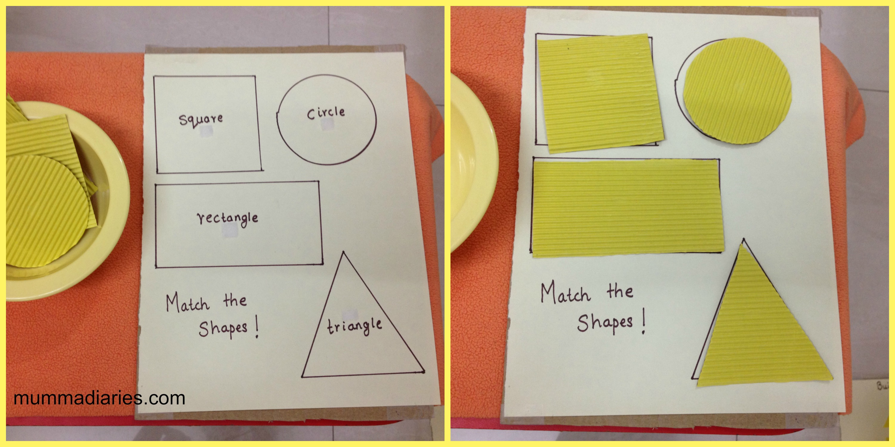 Shapes And Colors Art Activities For Toddlers