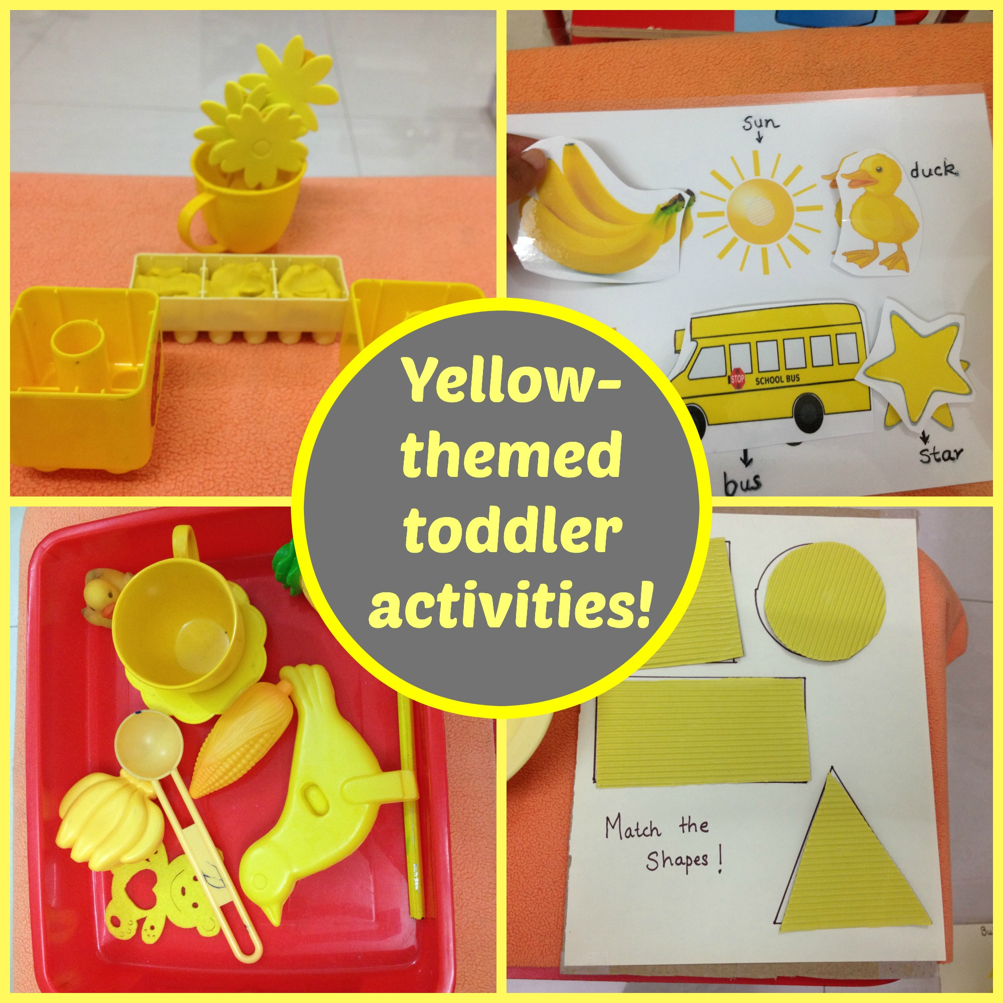 Yellow Themed Toddler Activities