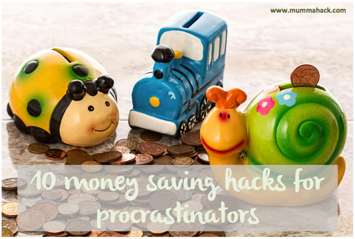 10 Money Saving Hacks for Procrastinators. You know that you should be spending less and saving more but if growing herbs and making your lunch sound like hard work, here are 10 money saving hacks that require very little effort.