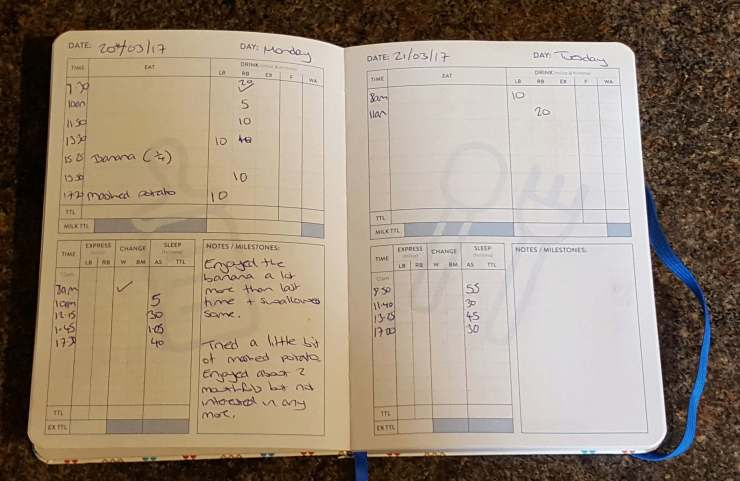 Tiddler weaning tracker - review and giveaway - Mummascribbles