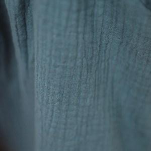 Rock – Musselin – jeansblau