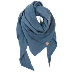 XXL-Musselintuch – dreieckig leicht – jeansblau