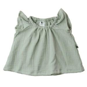 Bluse – Musselin – salbeigrün