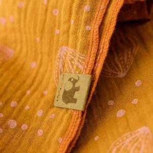 XXL-Musselintuch – dreieckig – Muscheln – rostorange