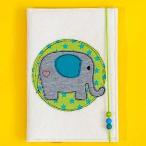 Uheft-Hülle – Elefant – grün