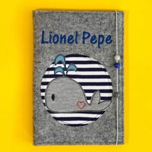 Uheft-Hülle – Wal – Lionel Pepe