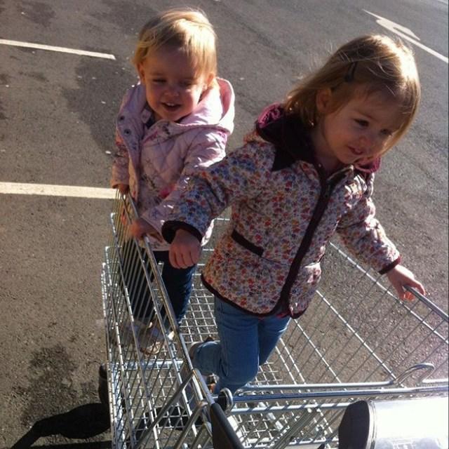 Shopping trolley fun