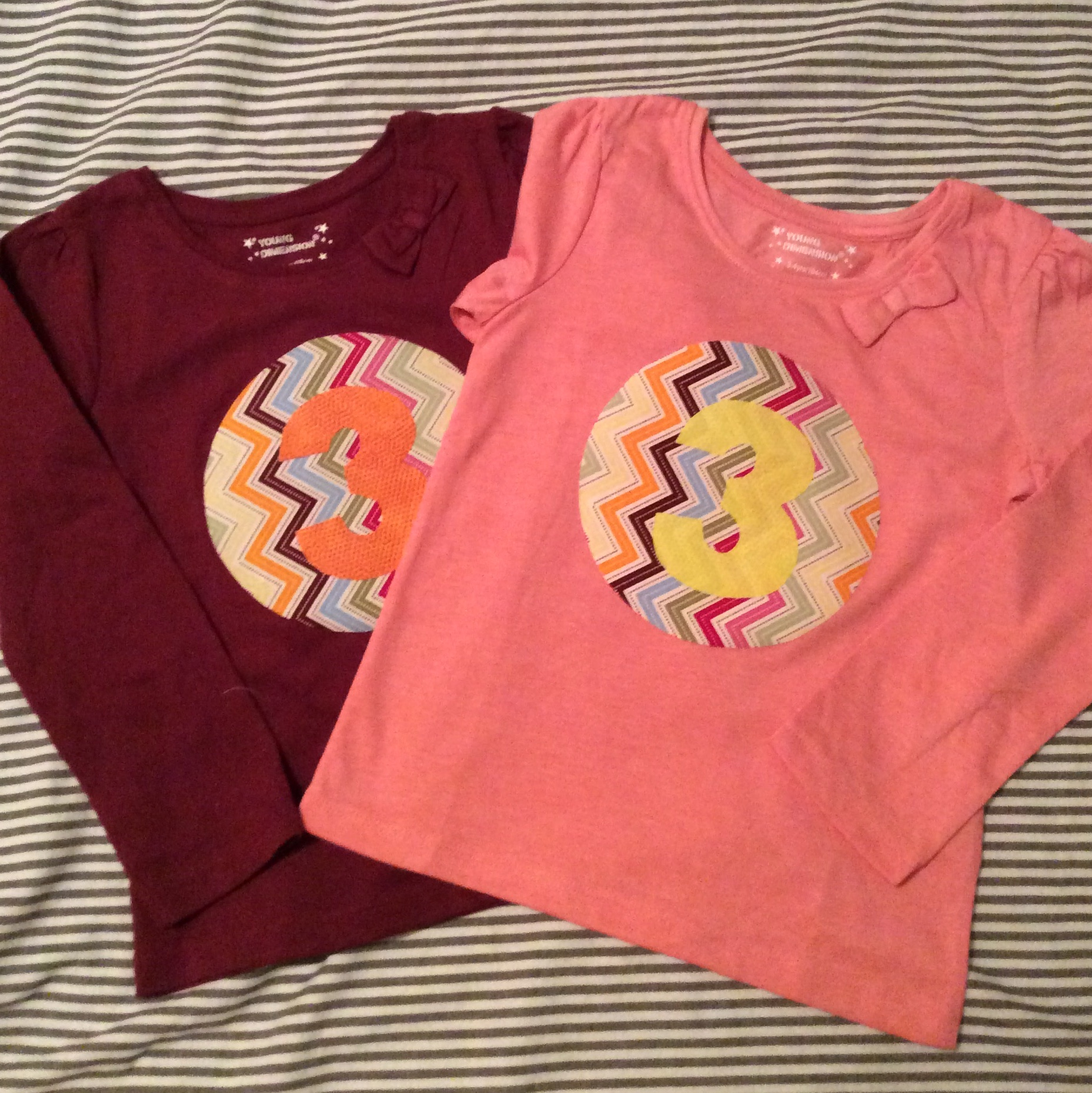 Twins Coordinating Birthday T-Shirts in under an hour