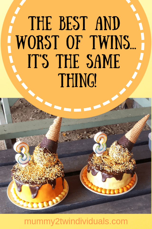 Twins are hard but then there are some perks too. The best and worst is actually the same.