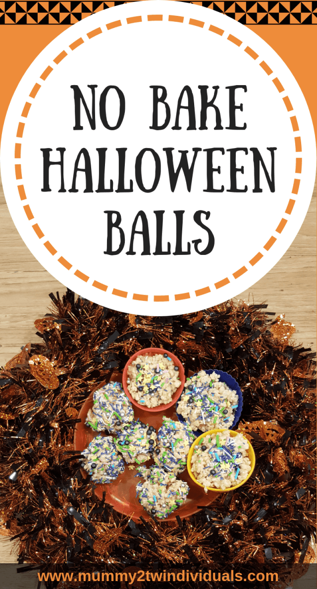Simple rice crispy treats with a spooky twist for a fun Halloween snack