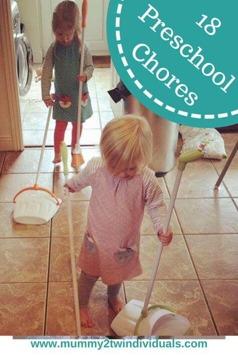 Get toddlers helping with simple preschool chores around the house.
