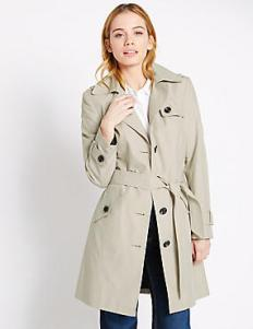 Marks and Spencer PETITE Belted Trench with Stormwear™
