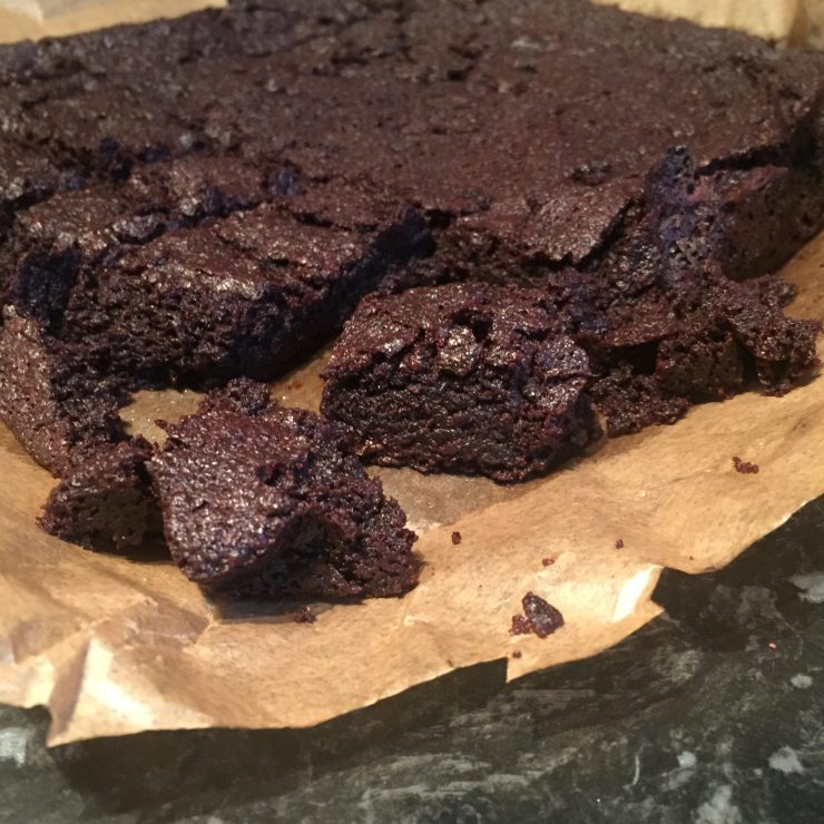Chocolate Brownies (dairy, egg, nut, soya free, vegan)