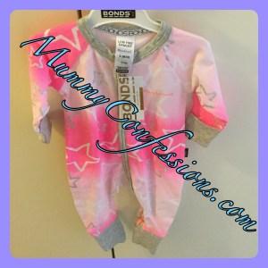 Pink wondersuit, Wondersuit, bonds, bonds Wondersuit, zippy, pink, stars, clothing, baby