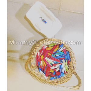 pegs, basket, toddler play, baby play, activity