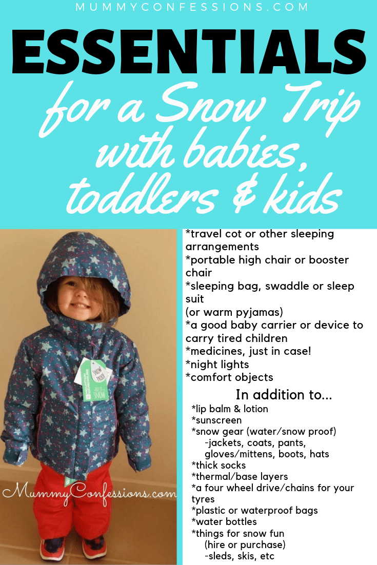 snow essentials for kids pin