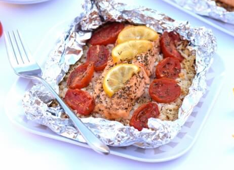 Easy-Oven-Baked-Salmon-Recipe-with-Lemon-and-Rice-from-Eats-Amazing-UK