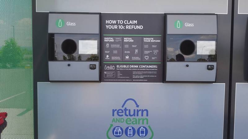 return and earn, reverse vending machine