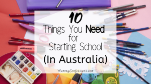 things you need to start school in australia