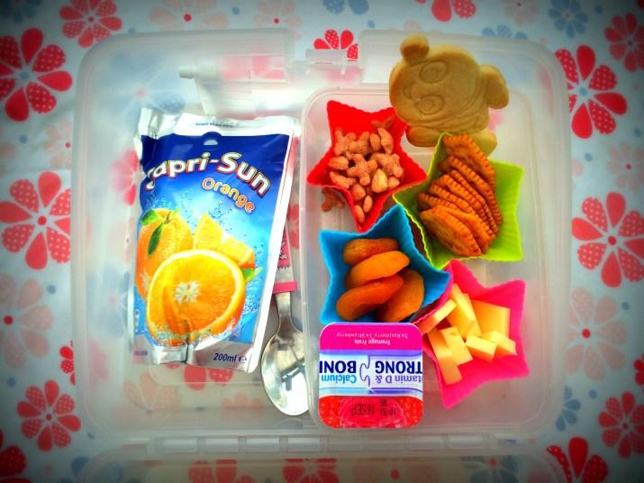 capri sun lunchbox set up photo