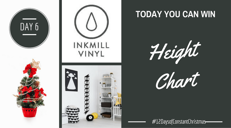Day 6 – Win custom vinyl height chart #12DaysofConstantChristmas